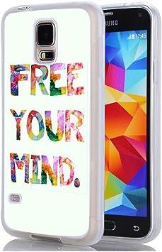 Funda para Samsung Galaxy S5, Free tu mente Samsung Galaxy S5: Amazon.es: Electrónica