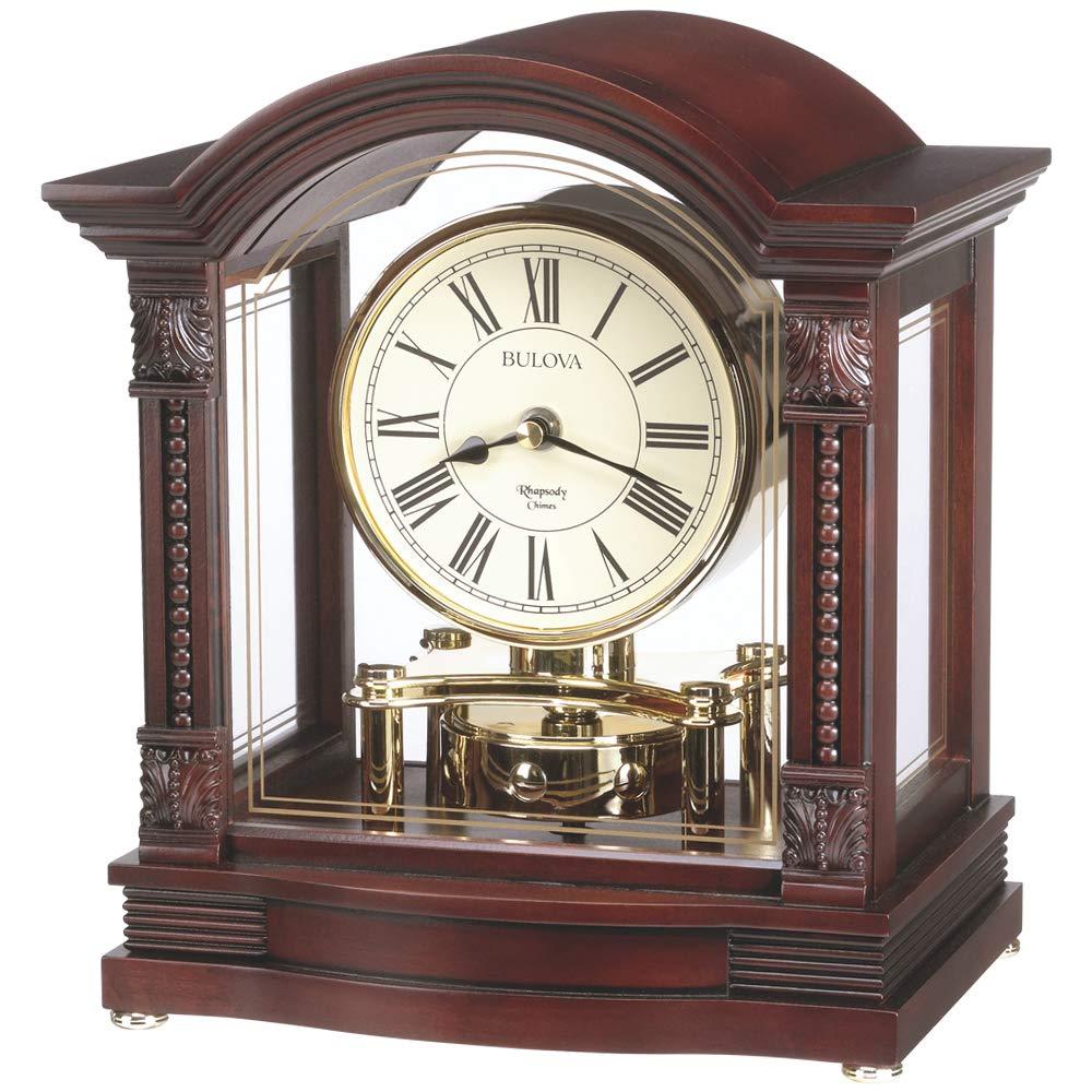 CDM product Bulova B1987 Bardwell Clock Antique Walnut big image