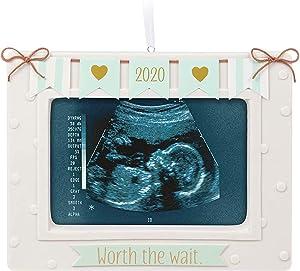 Hallmark Keepsake Christmas Ornament 2020 Year Dated Worth the Wait Baby Sonogram Porcelain Photo Frame