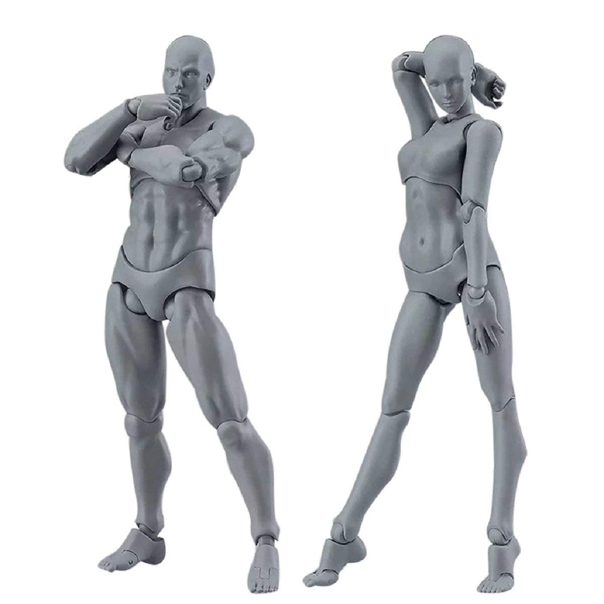 Drawing Figures Model, Putars 5D Drawing Figures for Artists Action Figure Model Human Mannequin Man andWoman Set 1 Set of Man Models + 1 Set of Woman Models