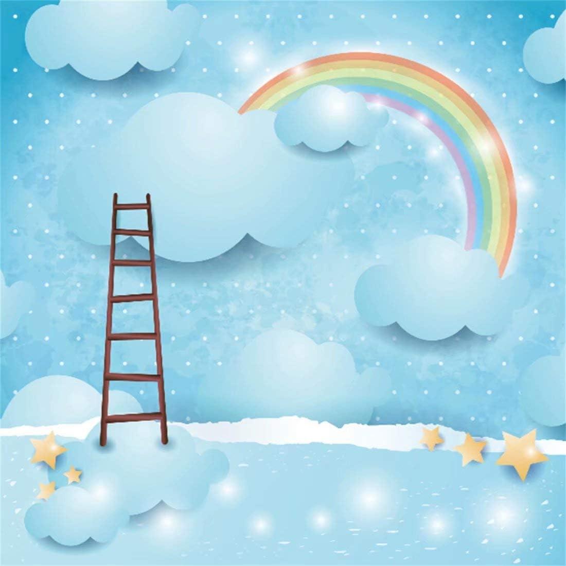 Cassisy 1,8x1,8m Vinilo Telon de Fondo Fondo de Nubes de Arco Iris Fiesta de cumpleaños Cielo Estrellado Fondos para Fotografia Party bebé Infantil Photo Studio Props Photo Booth: Amazon.es: Electrónica