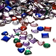 Adhesive Back Craft Jewels (500 Assorted Pieces)