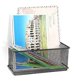 Amazon.com: Black Wire Mesh Magnetic Basket Storage Tray