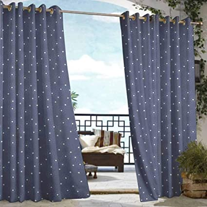 Amazoncom Diliteck Grommet Curtain Navy Blue Summer Night