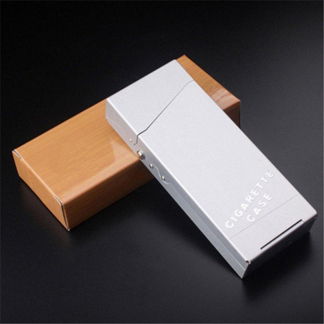 Silber VWH Leichte Aluminium Zigaretten Beh/älter