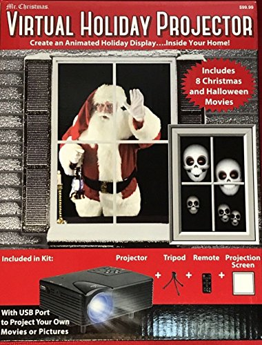 Virtual Holiday Projector - 8 Christmas and Halloween Movies]()