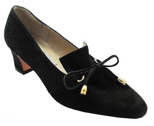 6b24429ec5e Claudia Ciuti Donata Women s Italian Suede Dressy low Heel Shoes