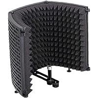 Microfoon Isolatie Mic Geluidsabsorberende Foam Reflector voor Elke Condensator Microfoon Opnameapparatuur Zwart…
