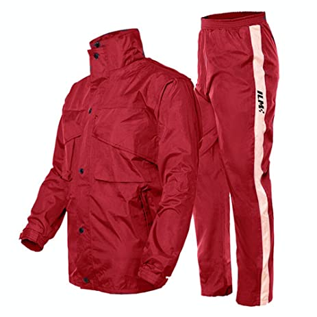 Amazon.com: ILM Motorcycle Rain Suit - Two Piece Rain Gear with ...