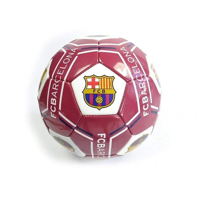 FCB FC Barcelona - Balón de fútbol (Talla 5) (Granate): Amazon.es ...