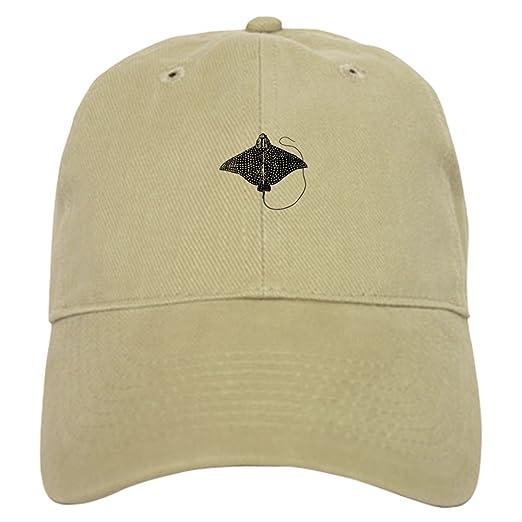 3a2105ddf4f CafePress - Spotted Eagle Ray Logo Baseball - Baseball Cap with Adjustable  Closure