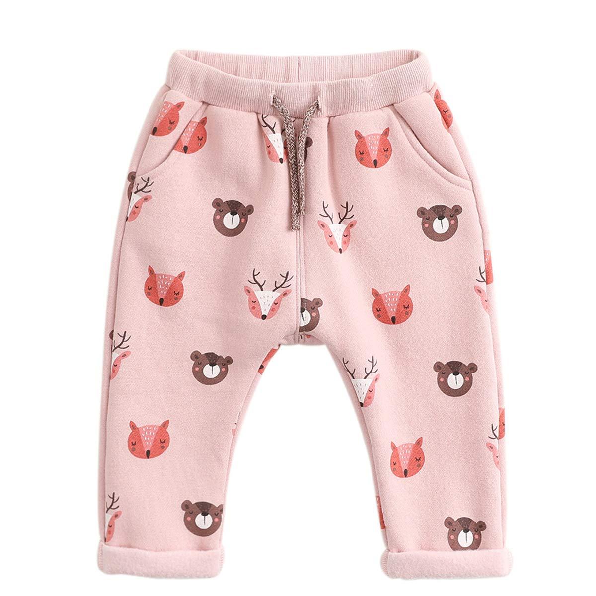 marc janie Little Girls Autumn Bear Park Sport Pants Baby Girls Trousers