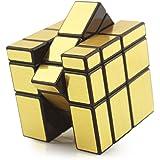 HJXDtech - Giocattoli educativi Shengshou irregolare 3x3x3 Mirror Magic Metti alla cubo 3D Twist Puzzle cubo - oro