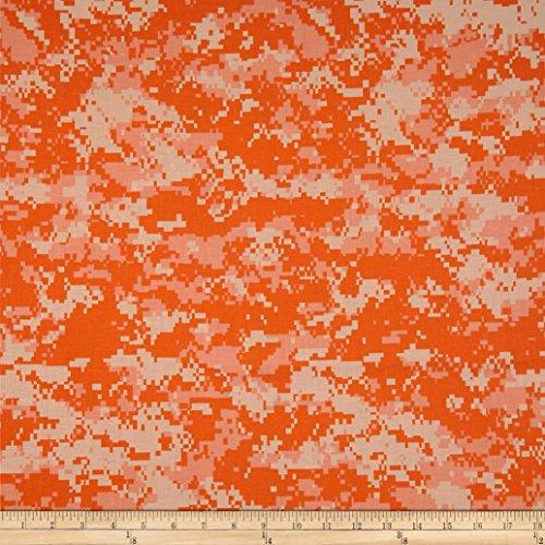 Santee Print Works Urban Camouflage Orange/Multi Fabric by The Yard, (Orange Camo Fabric)