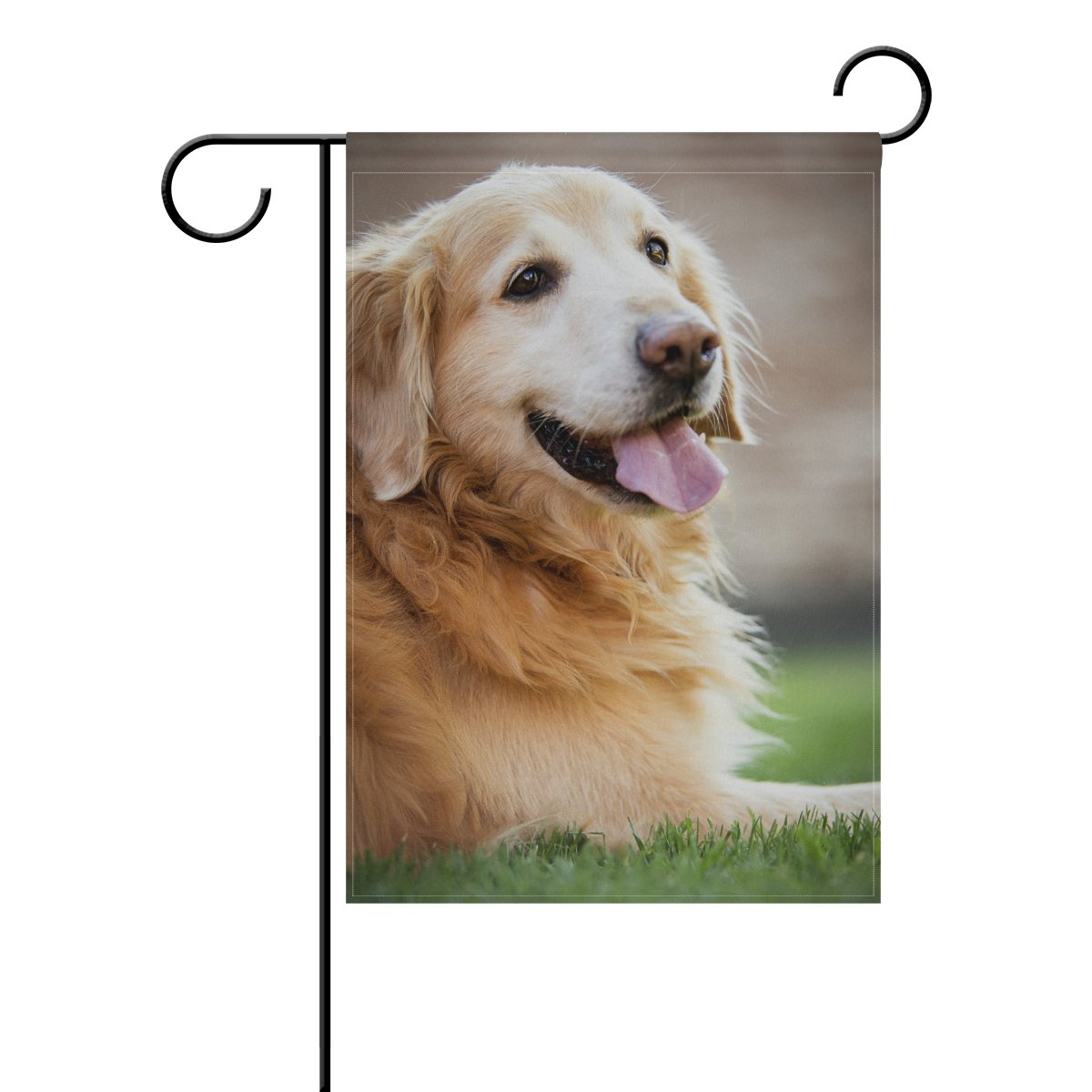 BlueViper Golden Retriever Dog Garden Flag Banner 12 x 18 Inch Decorative Garden Flag for Outdoor Lawn and Garden Home Décor Double-Sided