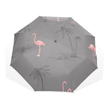 GUKENQ - Paraguas de Viaje Ligero y antiUV para Hombres, Mujeres y niños, diseño