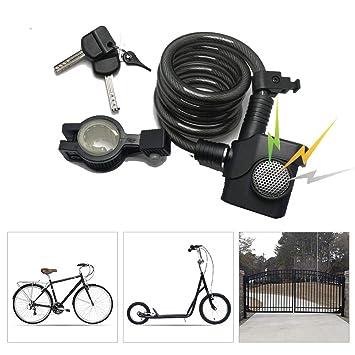 LieYuSport Candado Bici Alta Seguridad con Alarma de ...