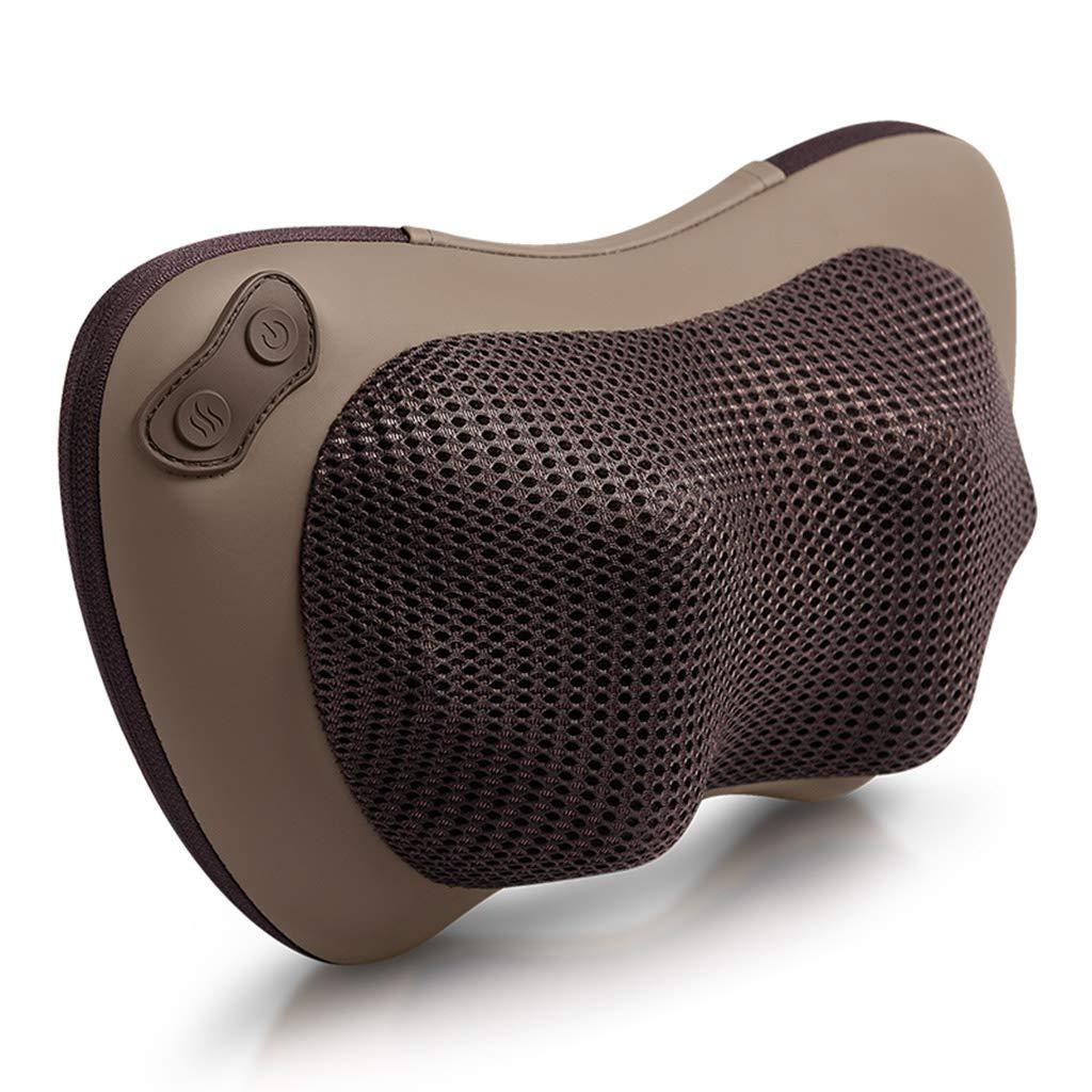 家庭用マッサージャーの首の肩のウエストの多機能車のマッサージ枕のD3バージョン,Red B07L81JSLT Brown  Brown