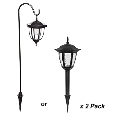 Yards & Beyond Dual Use Coach Style Solar Lights - 2 Pack : Landscape Lighting : Garden & Outdoor