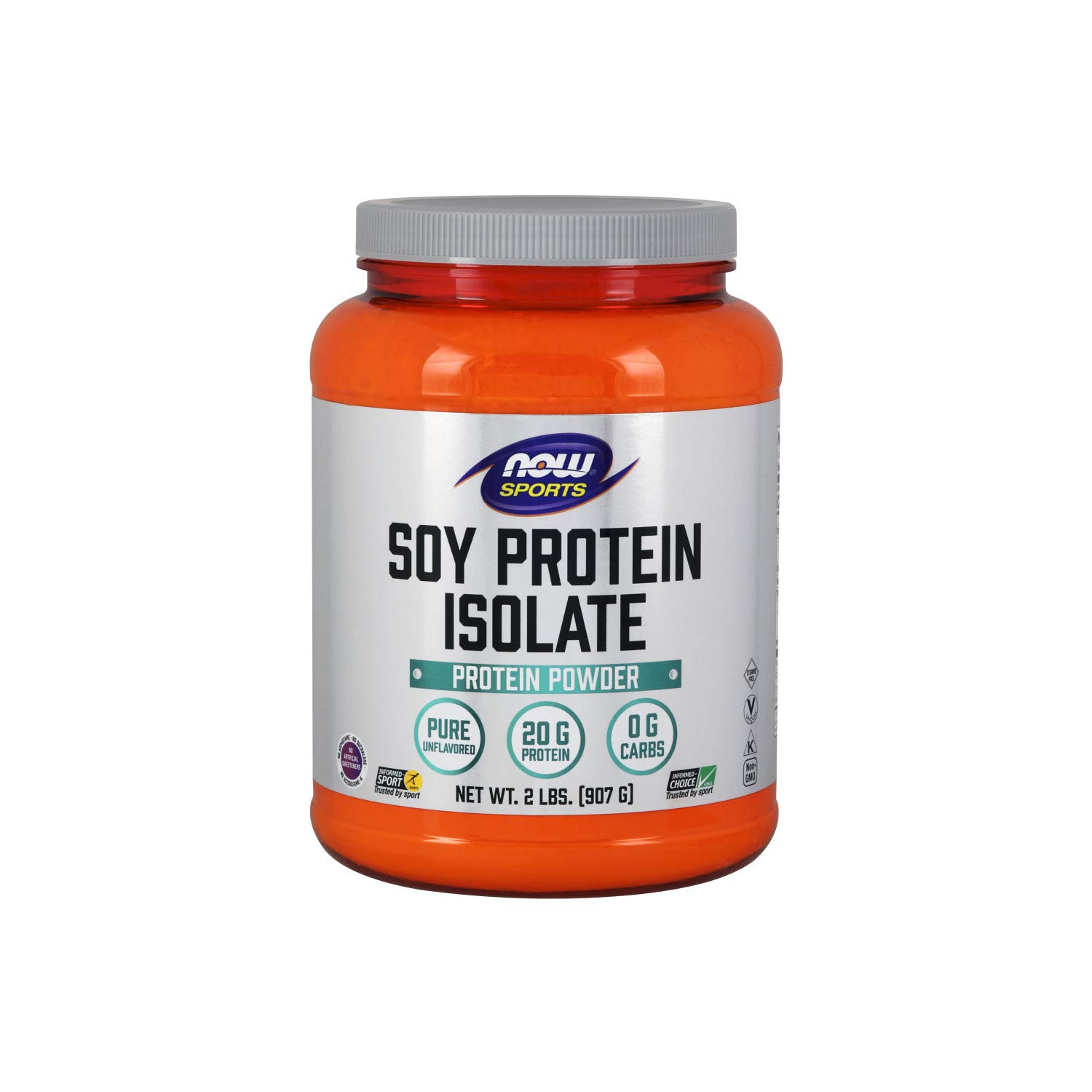 NOW Sports Nutrition, Soy Protein Isolate Powder, Unflavored, 2-Pound by Now Sports