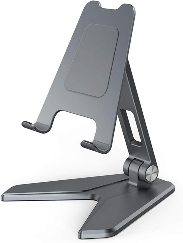 Serious Lamp Titular del Teléfono Celular Portátil para iPhone 11 12 Pro MAX Mini Soporte Teléfono Móvil para Escritorio Aleación de Aluminio Plegable