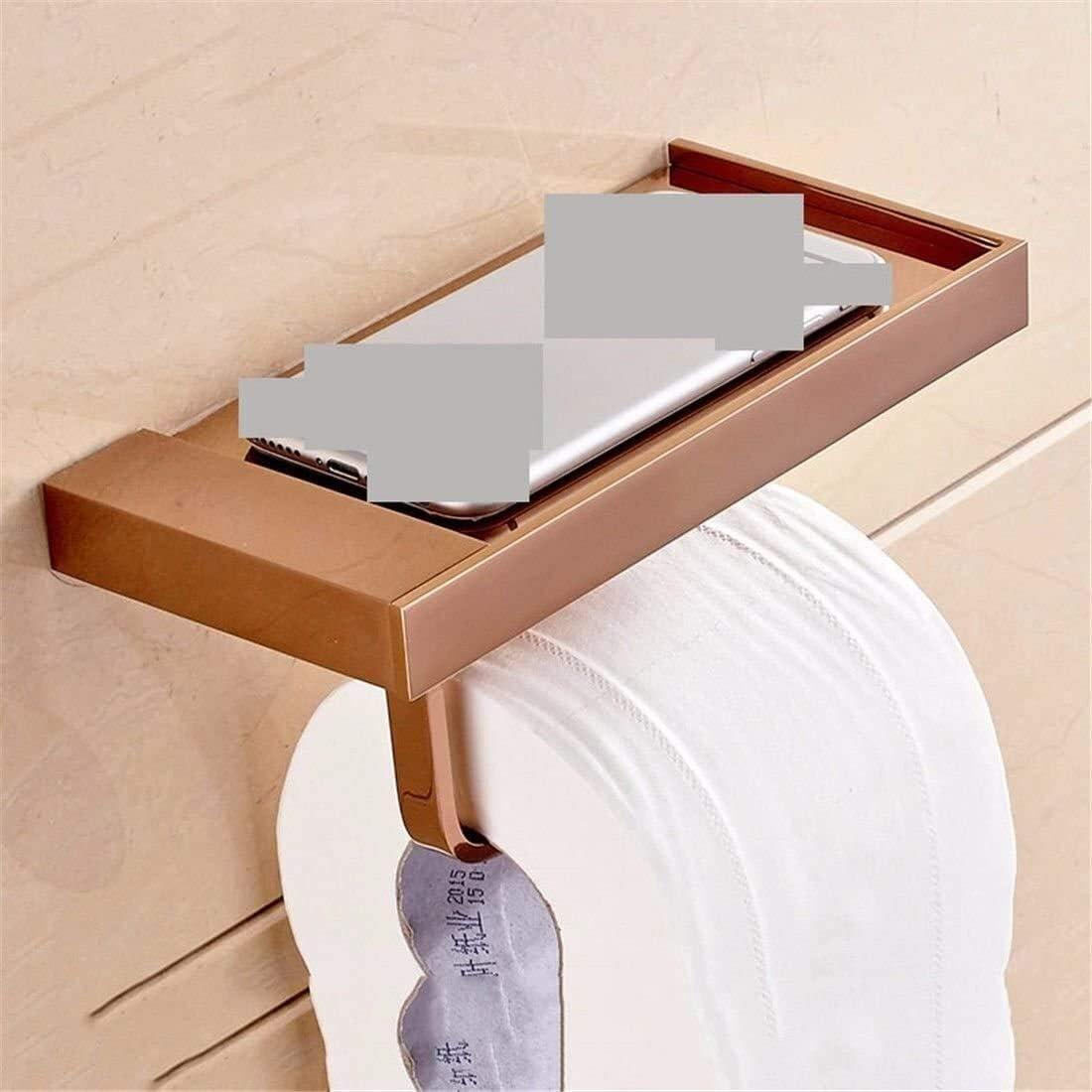 Anillo de toalla Papel higiénico del sostenedor del hogar del baño en bronce de accesorios Jade pared base montada papel higiénico Titular plataforma de baño individual Toallero