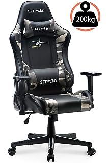 Ficmax Silla Gaming Ergonomica con Masaje Lumbar, Sillones ...