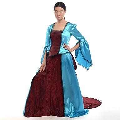 Amazon.com: BLESSUME Renaissance Victorian Dress Wedding Gown Marie ...