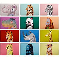 Maxwell & Williams Pete Cromer Wildlife Reversible Placemat 43.5x28.5cm 6pc Gift Pack