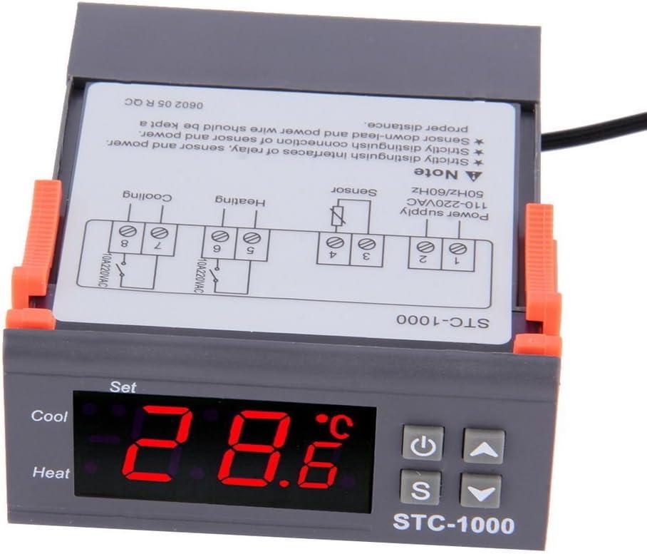 STC-1000 AC 110-220V Digital Temperature Controller Thermostat Aquarium Sensor
