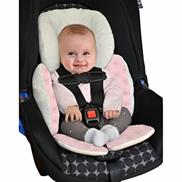 Vine Bebé Acolchado,Protector de cuerpo para coche,Colchoneta reversible para silla de paseo universal para bebés,Funda reversible silla de ...