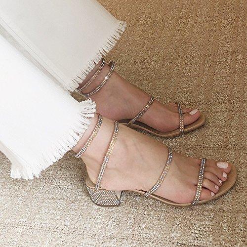 La Shoeshaoge Femmes Percer De Autour L'high heel Enroulé Shoes Serpent Sandales L'attache Avec À Sangle Eu37 Chaussures Épais L'eau gprp4E0