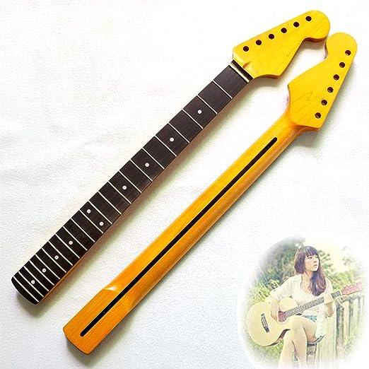 YUSDP Mástil de Guitarra de 22 trastes, Material de Arce, diapasón ...