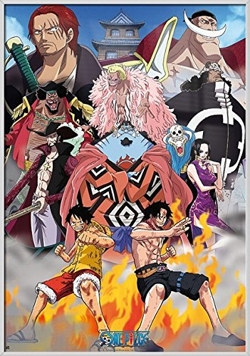 One Piece - Framed Manga / Anime TV Show Poster / Print Marine Ford: