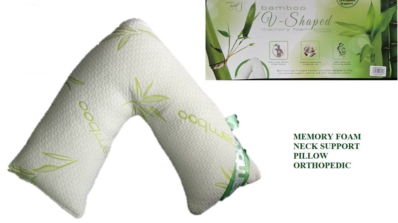 LUXURY ANTI BACTERIAL V SHAPED MEMORY FOAM BODY SUPPORT , MATERNITY , ORTHOPAEDIC , NURSING & PREGNANCY PILLOW WITH ORGANIC BAMBOO FABRIC COVER Artistic Fashionista