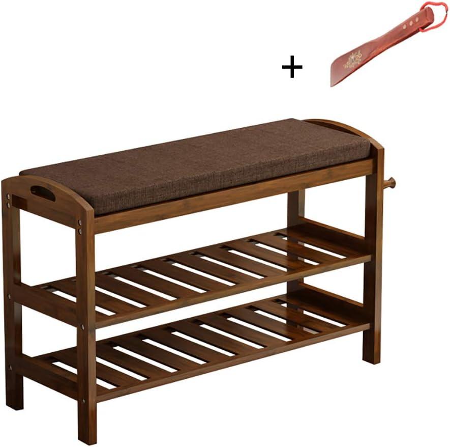 靴のベンチの変更靴のベンチ収納スツール靴箱、純木 (サイズ さいず : 60*29*50cm)
