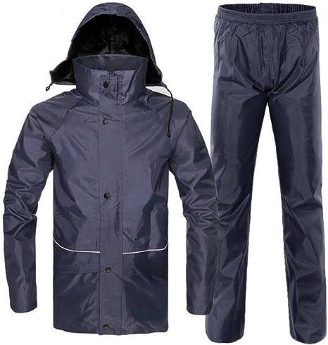 Amazon.com: dushow impermeable lluvia traje de chamarra y ...