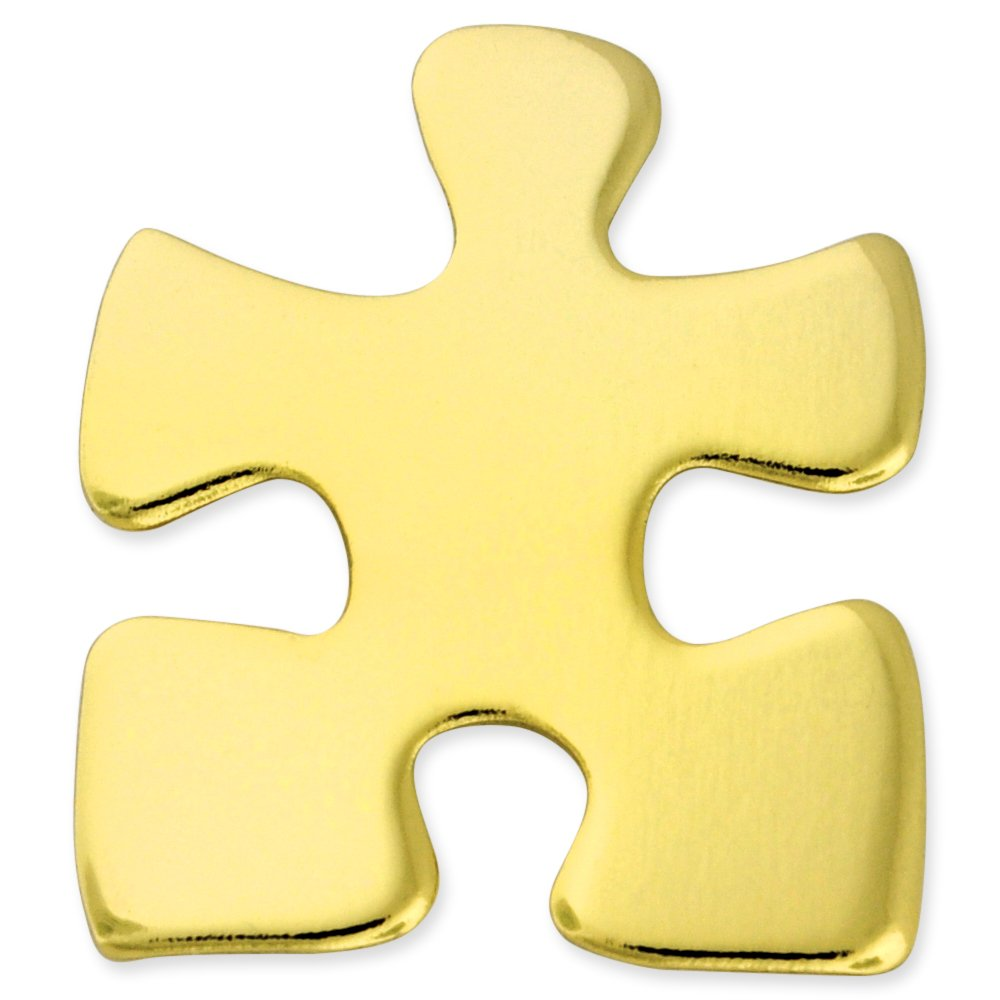 PinMart's Gold Plated Puzzle Piece Autism Awareness or Corporate Lapel Pin