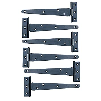 Beau 6 Pcs T Strap Door Hinges Black RSF Wrought Iron 5u0026quot; | Renovatoru0027s  Supply