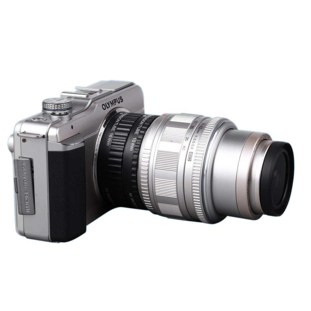 Viltrox Macro AF Enfoque autom/ático Tubo de extensi/ón DG 10/mm 16/mm para Micro M4//3/C/ámara Olympus E-P1/E-P2/E-PL1/E-PL2/Panasonic G1/GF1