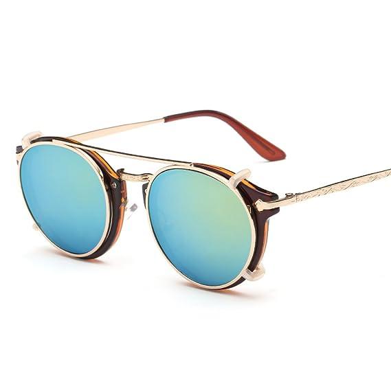 WKAIJC Retro Runden Kasten Trends Mode Persönlichkeit Bequem Anspruchsvoll Männlich Und Weiblich Doppel Sonnenbrillen,G