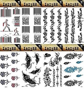 spestyle 8pcs diferentes diseños de aspecto Real Pegatinas Tatuaje ...