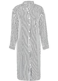 88dad870390 Romacci Women Stripe Long Sleeve Shirt Turn-Down Collar Plus Size Tops  Kimono Cardigan Oversized