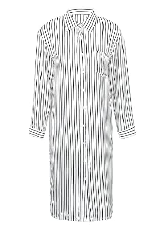 fcef8333035 Romacci Women Stripe Long Sleeve Shirt Turn-Down Collar Plus Size Tops  Kimono Cardigan Oversized Tunic Blouse  Amazon.co.uk  Clothing