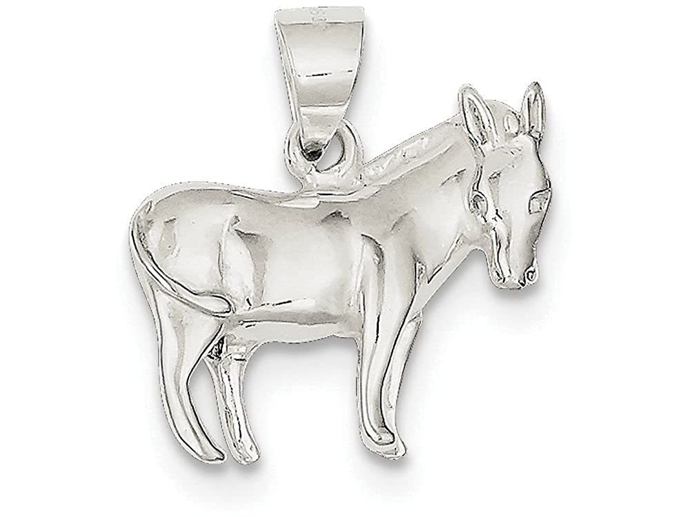 Finejewelers Sterling Silver Donkey Pendant Necklace Chain Included