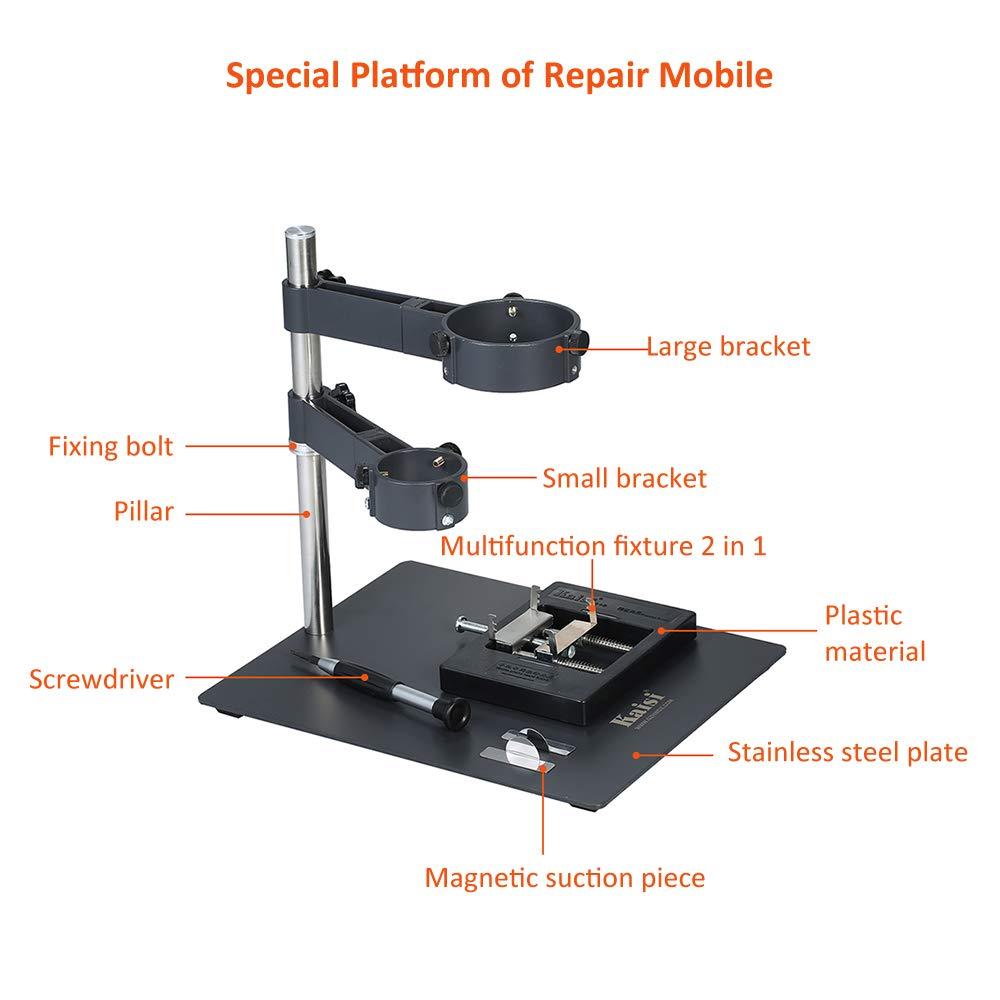 Docooler Hei/ßluftpistolenst/änder Hei/ßluftpistole Clamp Bracket Halter Stand L/öten Reparaturplattform f/ür BGA Rework Reballing Station