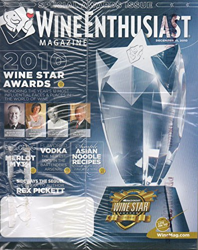 Wine Enthusiast December 15 2010 Magazine It looks like CD is enclosed SPECIAL AWARDS ISSUE Flavored Vodka: The Newest Tool In The Bartender's Arsenal (Fresh Food Column)