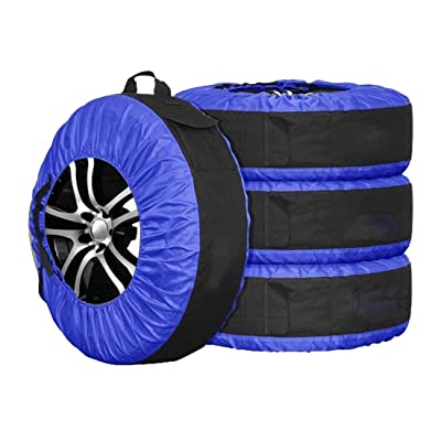 Durable Tire Tote Tyre Cover Storage Bag for Spare Wheel with Carrying Handle 77cm Diameter Pack of 4: Automotive