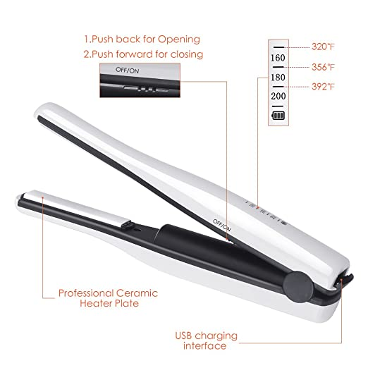 Gospire Mini Portable Hair Straightener & Curling Iron