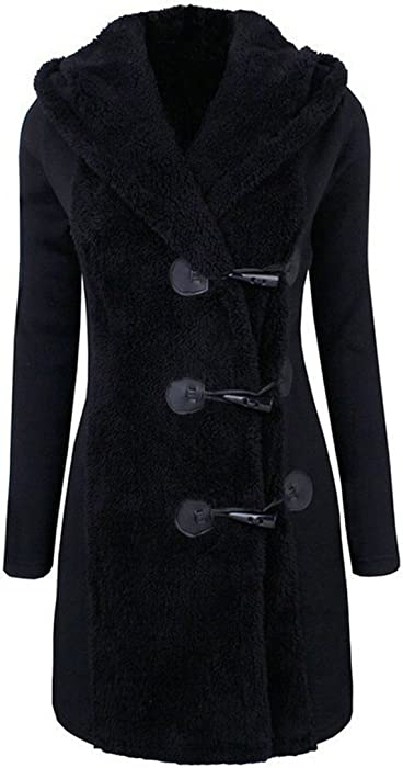 bdb5c3d7f5f Mose New Fashion Women Long Sleeve Winter Warm Slim Thicker Buttons Parka Hoodie  Coat Overcoat (